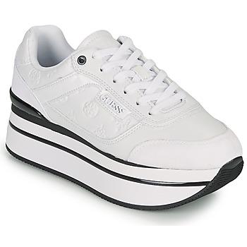 Cipők Női Rövid szárú edzőcipők Guess HANSIN Fehér