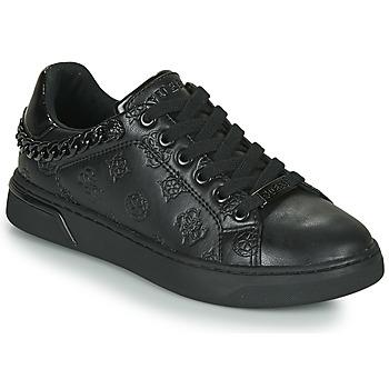 Cipők Női Rövid szárú edzőcipők Guess RIYAN Fekete