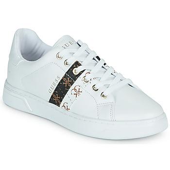 Cipők Női Rövid szárú edzőcipők Guess REEL Fehér