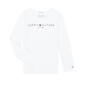 Ruhák Lány Hosszú ujjú pólók Tommy Hilfiger KG0KG05247-YBR-C Fehér