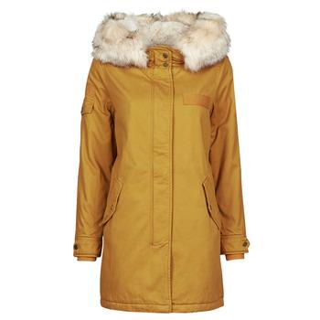 Ruhák Női Parka kabátok Only ONLMAY LIFE Mustár sárga
