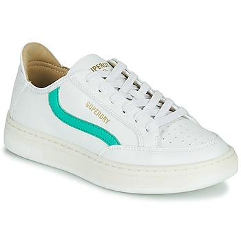 Cipők Női Rövid szárú edzőcipők Superdry BASKET LUX LOW TRAINER Fehér