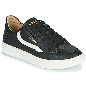 Cipők Férfi Rövid szárú edzőcipők Superdry BASKET LUX LOW TRAINER Fekete