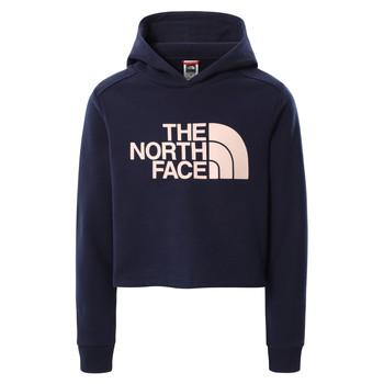 Ruhák Lány Pulóverek The North Face DREW PEAK CROPPED HOODIE Tengerész