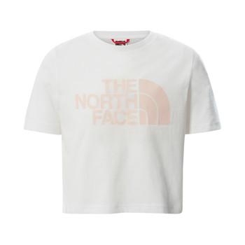 Ruhák Lány Rövid ujjú pólók The North Face EASY CROPPED TEE Fehér