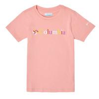 Ruhák Lány Rövid ujjú pólók Columbia SWEET PINES GRAPHIC Rózsaszín
