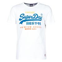 Ruhák Férfi Rövid ujjú pólók Superdry VL TRI TEE 220 Fehér