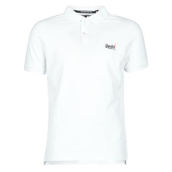 Ruhák Férfi Rövid ujjú pólók Superdry CLASSIC PIQUE S/S POLO Fehér