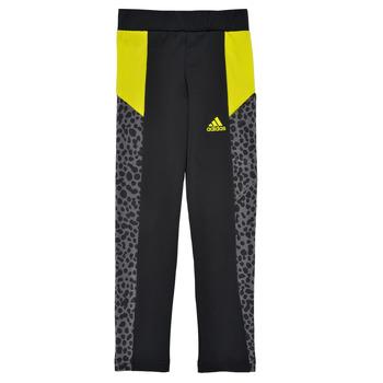 Ruhák Lány Legging-ek adidas Performance G LEO TIG Fekete