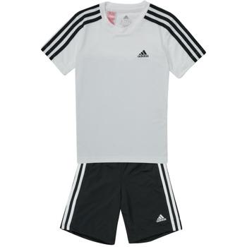 Ruhák Fiú Melegítő együttesek adidas Performance B 3S T SET Fehér / Fekete