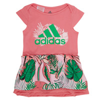 Ruhák Lány Rövid ruhák adidas Performance FLOWER DRESS Rózsaszín