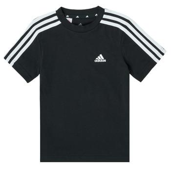 Ruhák Fiú Rövid ujjú pólók adidas Performance B 3S T Fekete