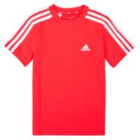 Ruhák Fiú Rövid ujjú pólók adidas Performance B 3S T Piros