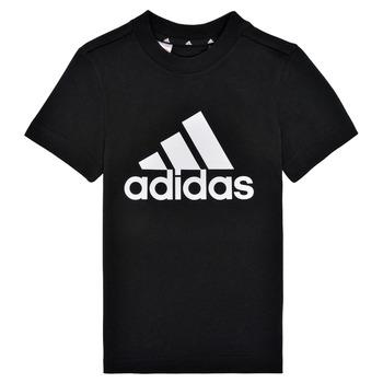 Ruhák Fiú Rövid ujjú pólók adidas Performance B BL T Fekete