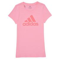 Ruhák Lány Rövid ujjú pólók adidas Performance G BL T Rózsaszín