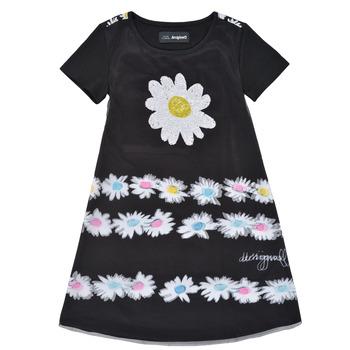 Ruhák Lány Rövid ruhák Desigual 21SGVK28-2000 Fekete