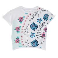 Ruhák Lány Rövid ujjú pólók Desigual 21SGTK02-1000 Fehér