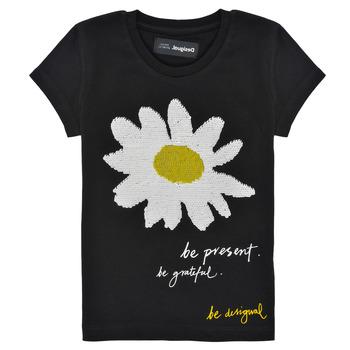 Ruhák Lány Rövid ujjú pólók Desigual 21SGTK28-2000 Fekete
