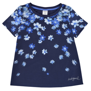 Ruhák Lány Rövid ujjú pólók Desigual 21SGTK37-5000 Tengerész