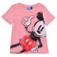 Ruhák Lány Rövid ujjú pólók Desigual 21SGTK43-3013 Rózsaszín