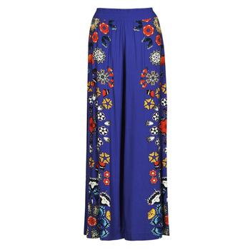 Ruhák Női Lenge nadrágok Desigual CHIPRE Kék