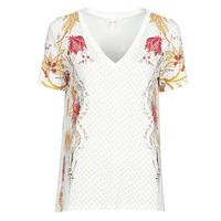 Ruhák Női Rövid ujjú pólók Desigual PRAGA Fehér