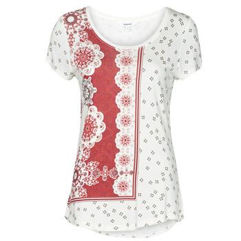 Ruhák Női Rövid ujjú pólók Desigual ESTAMBUL Fehér