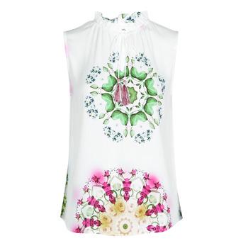Ruhák Női Trikók / Ujjatlan pólók Desigual ROSEN Fehér