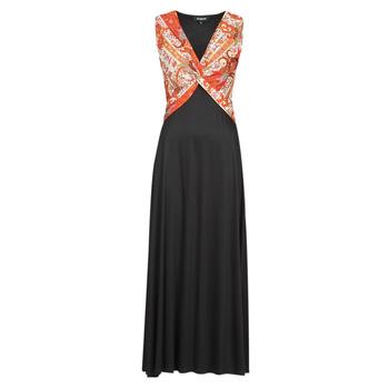 Ruhák Női Hosszú ruhák Desigual YAKARTA Fekete