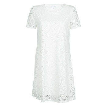Ruhák Női Rövid ruhák Desigual NILO Fehér