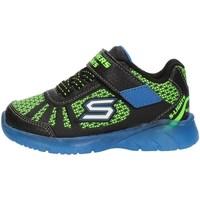 Cipők Fiú Magas szárú edzőcipők Skechers 401520N Black