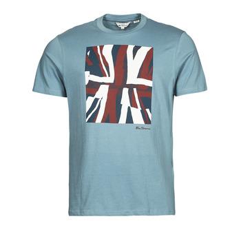 Ruhák Férfi Rövid ujjú pólók Ben Sherman HALF TONE FLEG TEE Kék