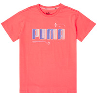 Ruhák Lány Rövid ujjú pólók Puma ALPHA TEE Rózsaszín