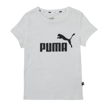 Ruhák Lány Rövid ujjú pólók Puma ESS TEE Fehér