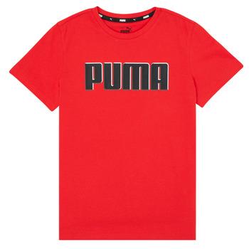 Ruhák Fiú Rövid ujjú pólók Puma ALPHA GRAF TEE Piros