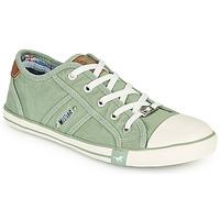Cipők Női Rövid szárú edzőcipők Mustang NATHALIA Zöld / Tiszta