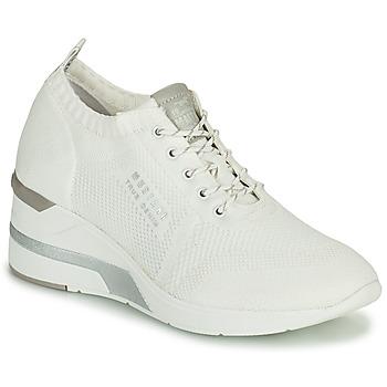 Cipők Női Magas szárú edzőcipők Mustang THALIA Fehér