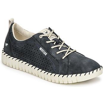Cipők Női Rövid szárú edzőcipők Mustang NINA Tengerész