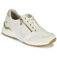 Cipők Női Rövid szárú edzőcipők Mustang ANINTA Fehér / Arany