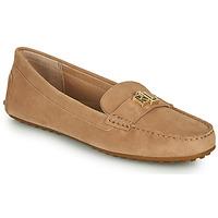 Cipők Női Mokkaszínek Lauren Ralph Lauren BARNSBURY FLATS CASUAL Bézs