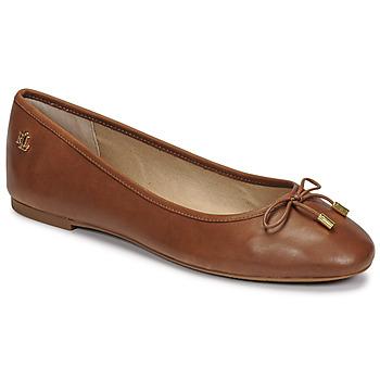 Cipők Női Balerina cipők  Lauren Ralph Lauren JAYNA Konyak