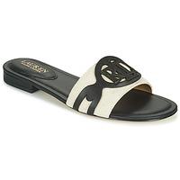 Cipők Női Papucsok Lauren Ralph Lauren ALEGRA Fekete  / Bézs