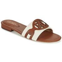 Cipők Női Papucsok Lauren Ralph Lauren ALEGRA Konyak / Bézs