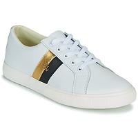 Cipők Női Rövid szárú edzőcipők Lauren Ralph Lauren JANSON II Fehér / Arany