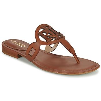 Cipők Női Szandálok / Saruk Lauren Ralph Lauren AUDRIE Konyak