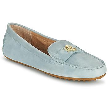 Cipők Női Mokkaszínek Lauren Ralph Lauren BARNSBURY FLATS CASUAL Kék / Égkék