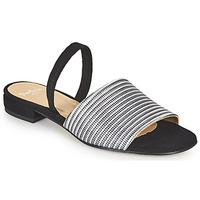 Cipők Női Szandálok / Saruk Perlato 11117-YORK-ARGENT-CAM-NOIR Fekete  / Ezüst