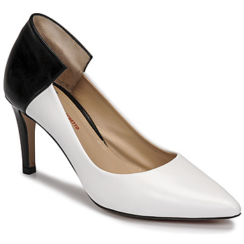 Cipők Női Félcipők Perlato 11764-VENUS-BLANC-JAMAICA-NOIR Fehér / Fekete