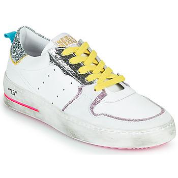 Cipők Női Rövid szárú edzőcipők Semerdjian SONA Fehér / Ezüst