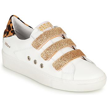Cipők Női Rövid szárú edzőcipők Semerdjian GARBIS Fehér / Arany